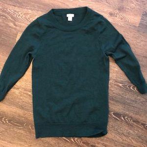 J. Crew like new sweater green